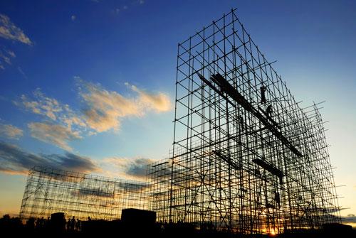 Construction-Sunrise
