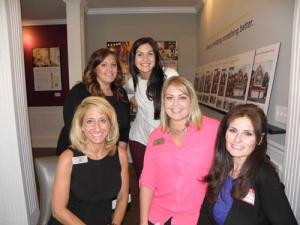 Nicole Gardiner (Toll Brothers), Marissa Stokes, Adriana Rogalin, Sydney Gootee and Semra Yar (M/I Homes)