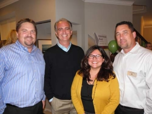 Rick Rieman (M/I Homes), Jeff Cesario (Private Equity), Linda Holder and Jeff Schultz (Kinzie Real Estate Group)