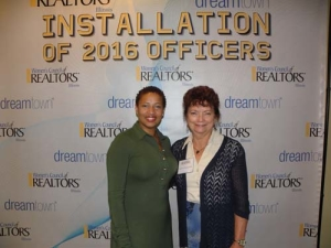 Tracey Williams (T. Baux Realty) and Dolores Zimmerman