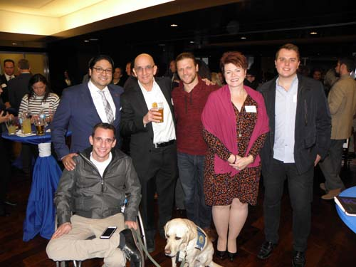Manny-Regalado-Joe-Mullane-Marco-Daiello-Kathy-Fern-Lukasz-Machaj-Joe-DiLorenzo-seated-with-his-dog-Clem.jpg