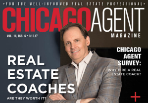 Chicago Agent Magazine's Coaching Issue cover features @properties broker and coach Matt Tiegler.