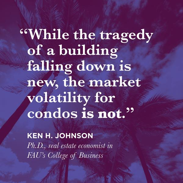 Ken H. Johnson quote condo volatility