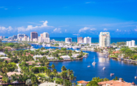 housing prices overvalued in Florida Ft. Lauderdale aerial single-family homes, condos, Intracoastal