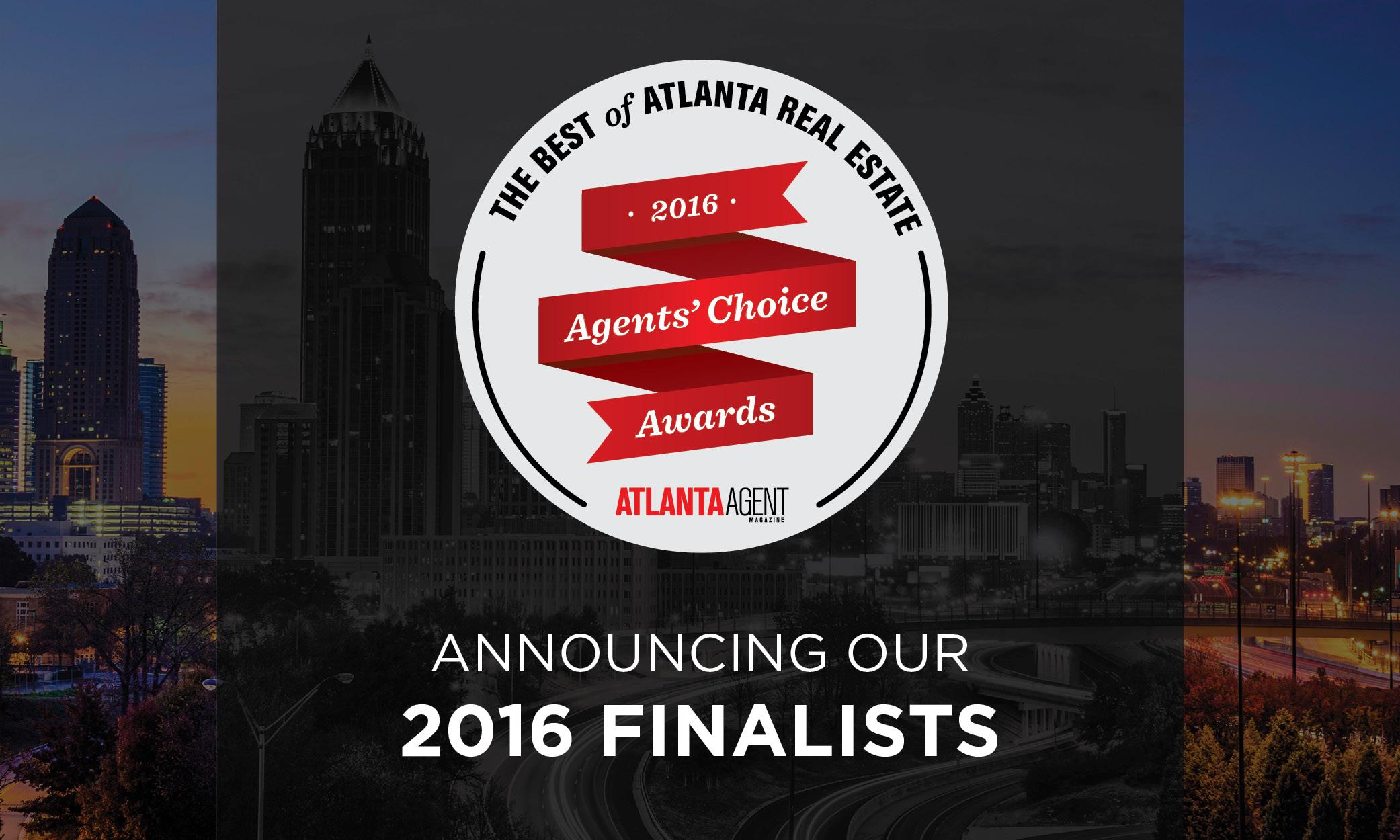 2016 Atlanta Agents Choice Awards Finalist Announcement Logo