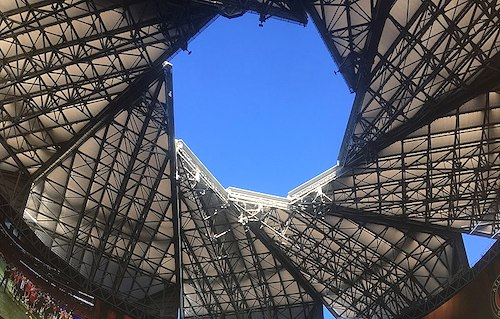 Mercedes-Benz Stadium roof in October 2018