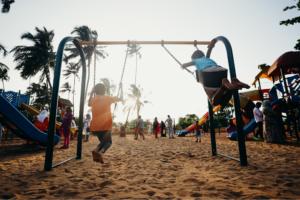 Kids playing playground